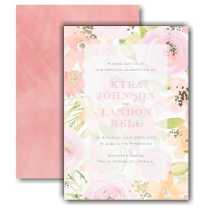 Colorful Blooms Wedding Invitation Icon