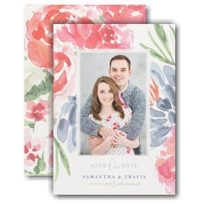 Colorful Botanicals Save the Date Card Icon
