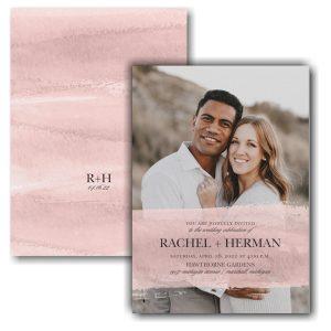 Colorful Brushstroke Photo Wedding Invitation Icon