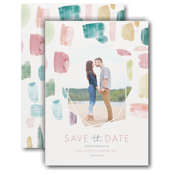 Colorful Date Save the Date Card