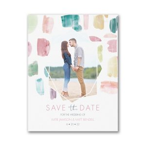 Colorful Date Save the Date Magnet