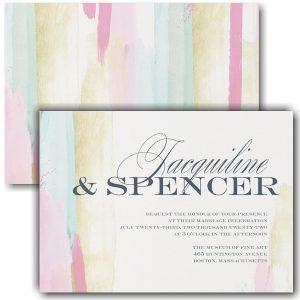 Colorful Strokes Wedding Invitation Icon