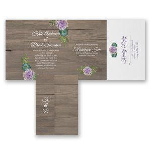 Colorful Succulents Seal 'n Send Wedding Invitation Icon
