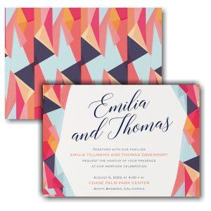 Colorfully Modern Wedding Invitation Icon