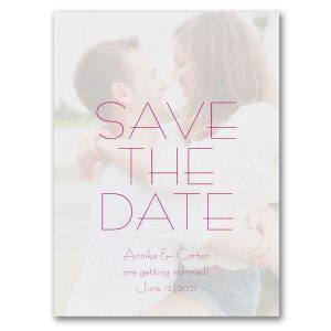 Contemporary Day Photo Save the Date Card Icon
