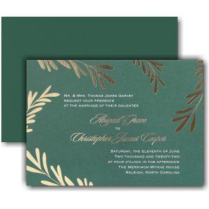 Contemporary Greenery Wedding Invitation Icon
