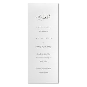 Crisp and Tall White Wedding Program Icon