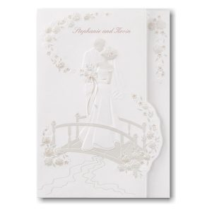 Crossing the Bridge Wedding Invitation Icon