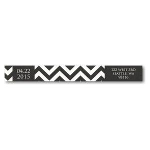 Custom Band Over Full Photo Skinny Address Label