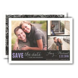 Custom Fit 3-Photo Block Save the Date Card Icon