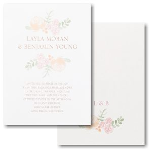 Dainty Blooms Wedding Invitation Icon