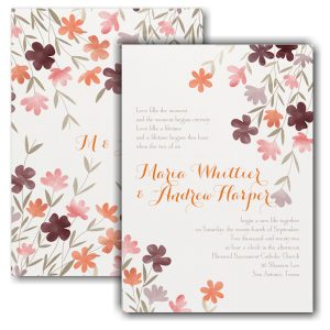 Dainty Floral Wedding Invitation Icon