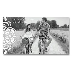 Damask Date Blue Save the Date Magnet Icon