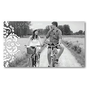 Damask Ivory Save the Date Magnet Icon