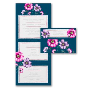Darling Affections in Bordeaux Seal 'n Send Wedding Invitation Icon