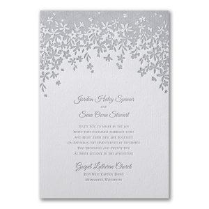 Darling Floral Letterpress Wedding Invitation Icon