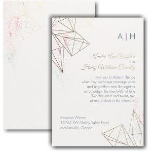 Darling Geometric Wedding Invitation Icon