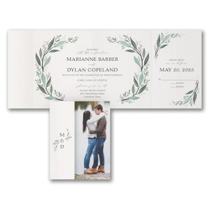 Darling Greenery All in One Wedding Invitation Icon