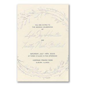 Dashing Greenery in Ecru Wedding Invitation Icon