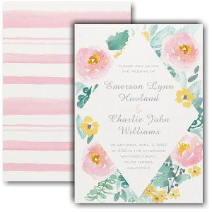 Dazzling Botanicals Wedding Invitation Icon
