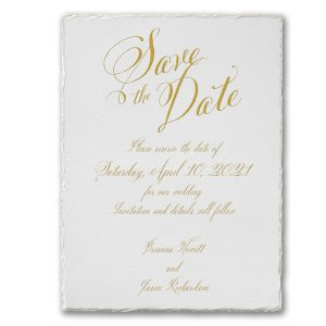 Deckle Love Save the Date Card Icon