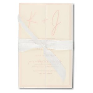 Deckled Simplicity in Ecru Wedding Invitation Icon