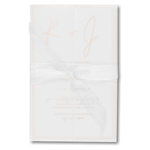 Deckled Simplicity in White Wedding Invitation Icon