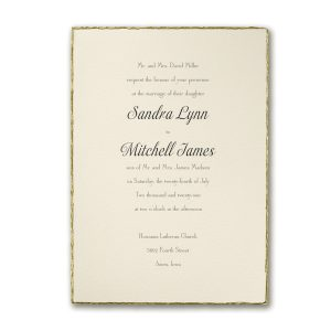 Deckled in Gold Wedding Invitation Icon