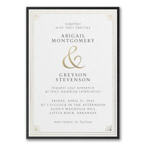 Deco Dots and Lines Layered Wedding Invitation Icon