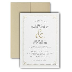 Deco Dots and Lines Pocket Wedding Invitation Icon