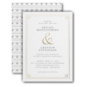 Deco Dots and Lines Wedding Invitation Icon