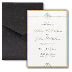 Deco Expressions Layered Pocket Wedding Invitation Icon