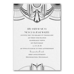 Deco Glamour Wedding Invitation Icon