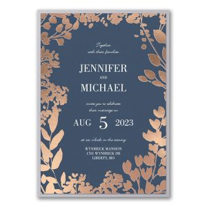 Decorative Floral Border Layered Wedding Invitation Icon