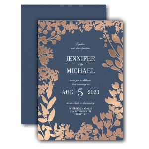 Decorative Floral Border Wedding Invitation Icon
