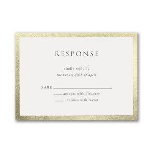 Decorative Treasure in Black Response Card
