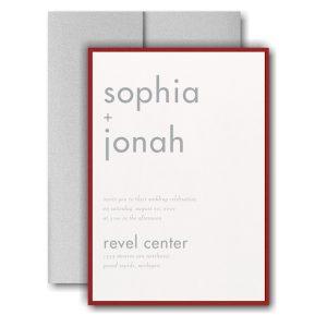Decoratively Modern Layered Pocket Wedding Invitation Icon