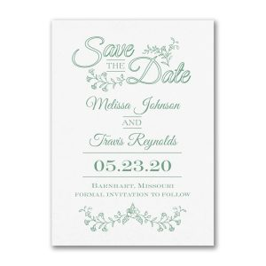 Delicate Flowers Save the Date Card Icon