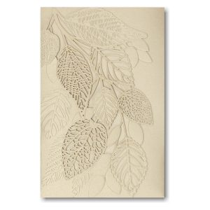 Delightful Leaves in Gold Pocket Wedding Invitation Icon