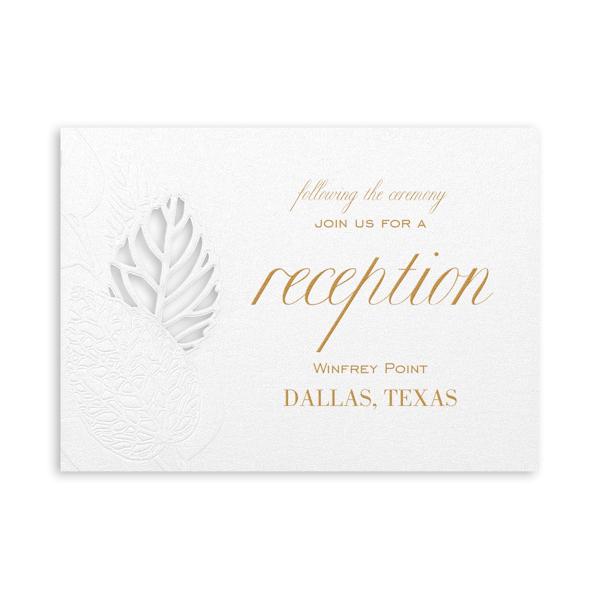 Delightful Leaves in Silver Pocket Reception Card
