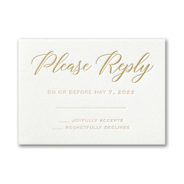 Deluxe Style in Pearl Response Card