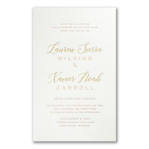 Deluxe Style in Pearl Wedding Invitation