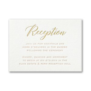 Deluxe Style in White Reception Card