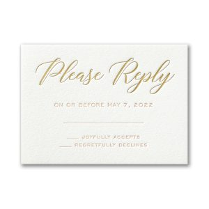 Deluxe Style in White Response Card