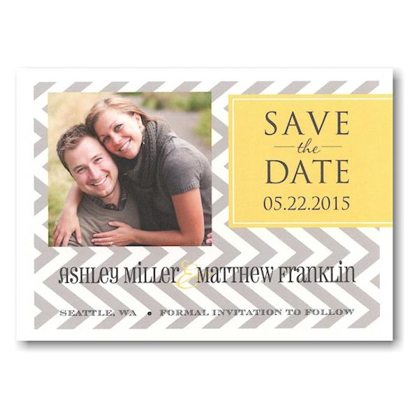 Designer Tag Save the Date Postcard