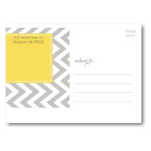 Designer Tag Save the Date Postcard alt