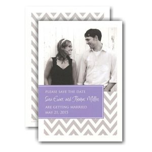 Designer with Purple Tag Photo Save the Date Card Icon