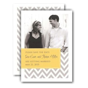 Designer with Yellow Tag Photo Save the Date Card Icon