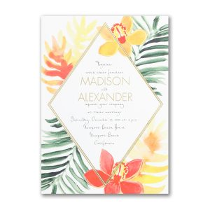 Diamonds & Sunshine Wedding Invitation Icon