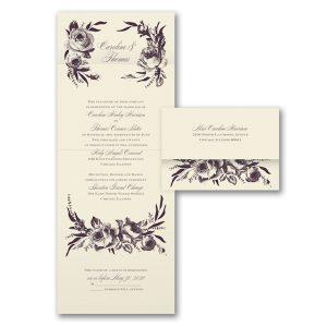 Divine Blossoms Seal 'n Send Wedding Invitation Icon